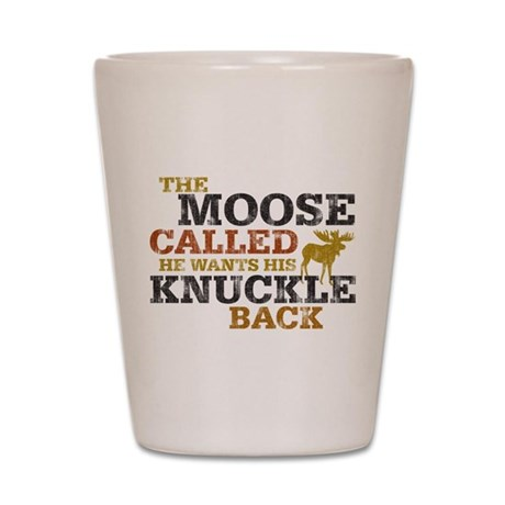 Moose Knuckle Shot Glass