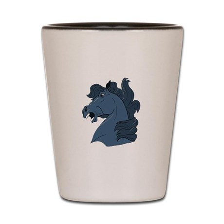 Blue Horse Shot Glass