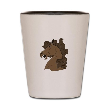 Brown Horse Shot Glass