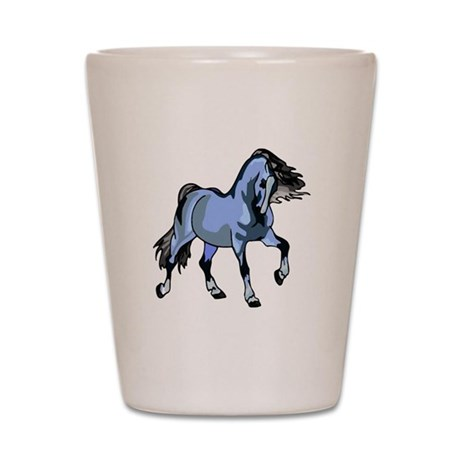 Fantasy Horse Light Blue Shot Glass