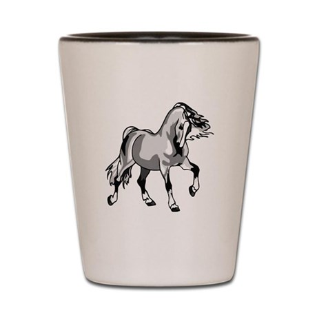 Spirited Horse White Shot Glass