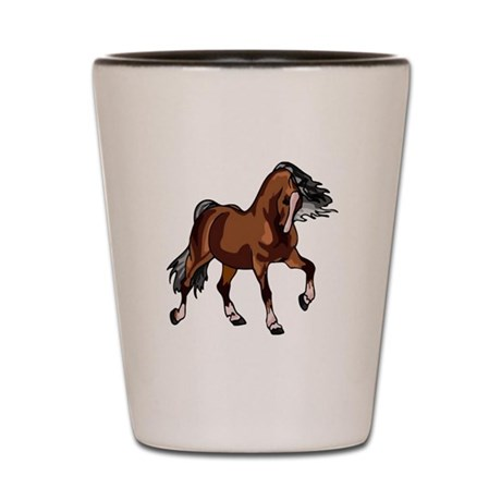 Spirited Horse Shot Glass