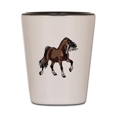 Spirited Horse Dark Brown Shot Glass