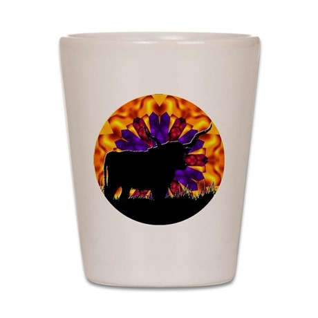 Texas Longhorn Shot Glass