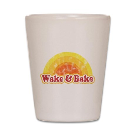 Wake and Bake Shot Glass