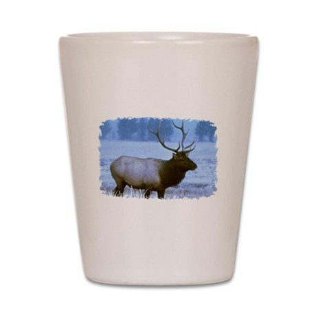 Bull Elk Shot Glass