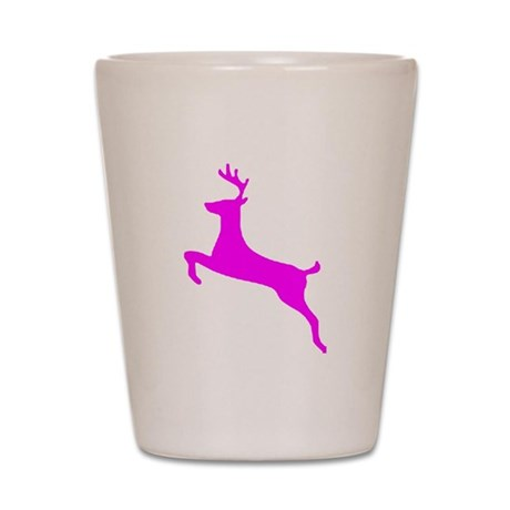 Hot Pink Leaping Deer Shot Glass