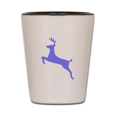 Purple Leaping Deer Shot Glass