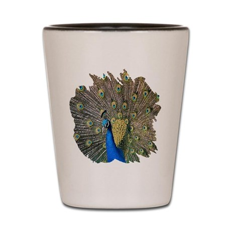 Peacock Shot Glass