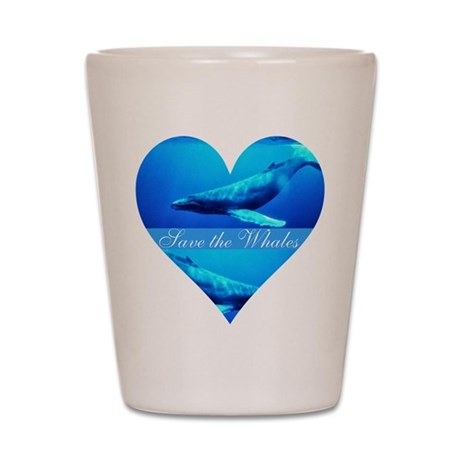 Save the Whales Shot Glass