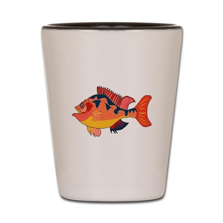 Colorful Fish Shot Glass