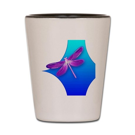 Pretty Dragonfly Shot Glass