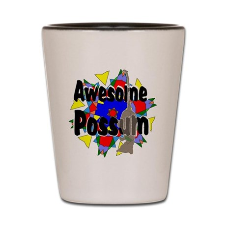 Awesome Possum Kaleidoscope Shot Glass