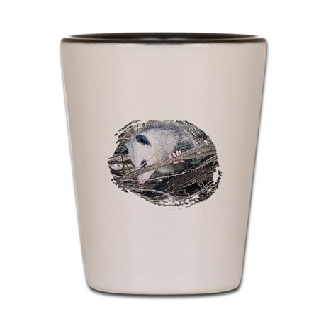 Peek-a-Boo Possum Shot Glass