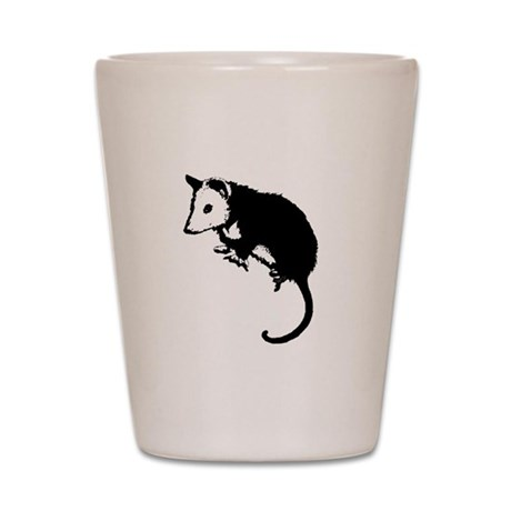 Possum Silhouette Shot Glass