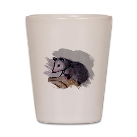 Baby Possum Shot Glass
