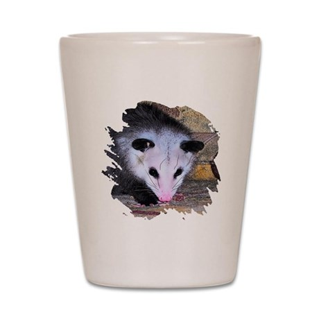 Virginia Opossum Shot Glass