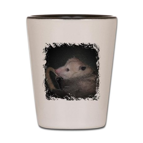 Sleepy Possum Shot Glass
