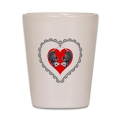 Opossum Valentines Day Heart Shot Glass