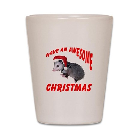 Santa Helper Possum Shot Glass