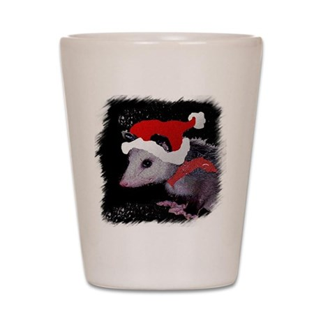 Possum Santa Shot Glass