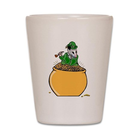 Possum Leprechaun Shot Glass