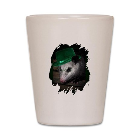 St Patrick's Day Possum Shot Glass