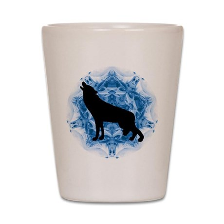 Wolf Silhouette Shot Glass