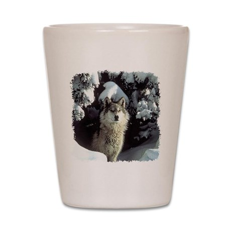 Winter Wolf Shot Glass