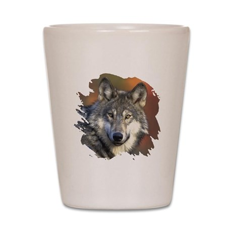 Gray Wolf Shot Glass