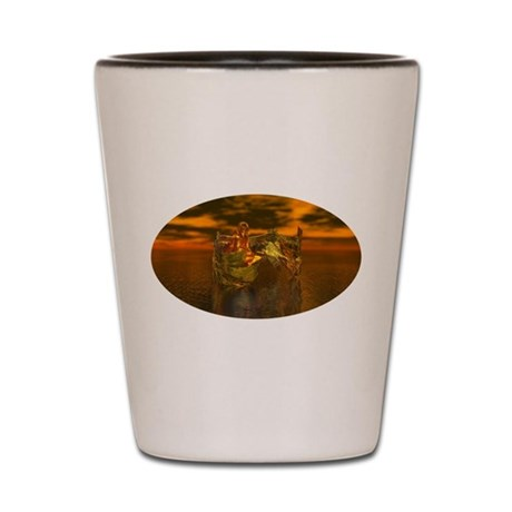Golden Angel Shot Glass