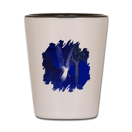 Iridescent Angel Shot Glass