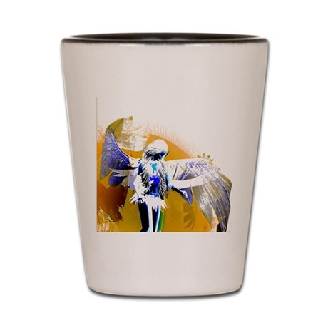 Golden Angel Art Shot Glass