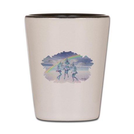 Angels and Rainbows Shot Glass