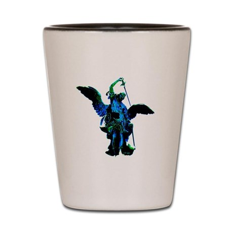 Powerful Angel - Blue Shot Glass