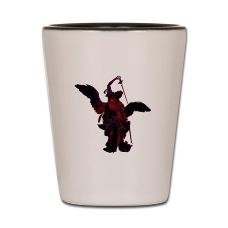 Powerful Angel - Red Shot Glass