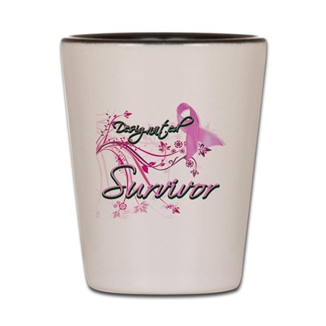 Pink Ribbon Survivor Shot Glass