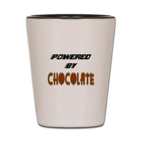 Powered by Chocolate Shot Glass