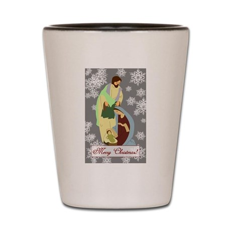 The Nativity Shot Glass