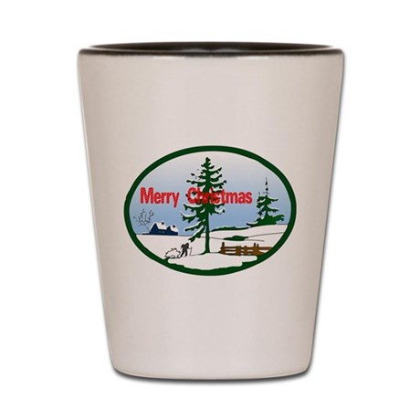Christmas Snow Shot Glass