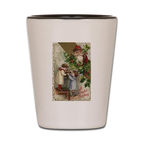 Vintage Christmas Card Shot Glass