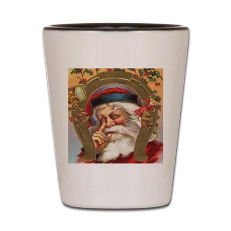 Vintage Santa Shot Glass