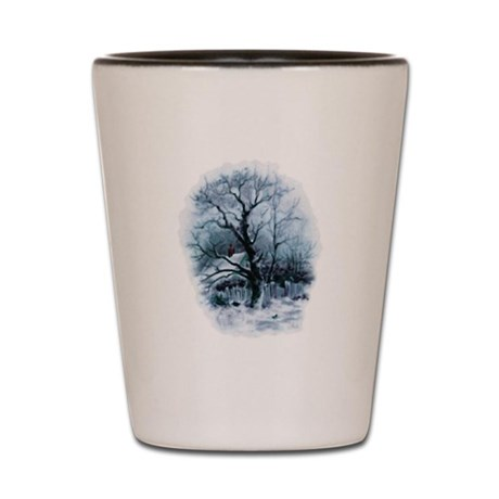 Winter Snowscene Shot Glass