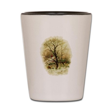 Winter Scene Shot Glass