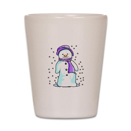 Happy Snowman Shot Glass