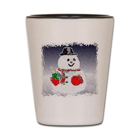 Winter Snowman Shot Glass