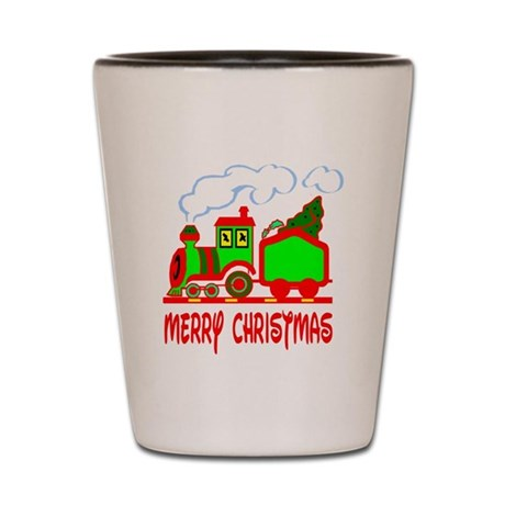 Christmas Train Shot Glass
