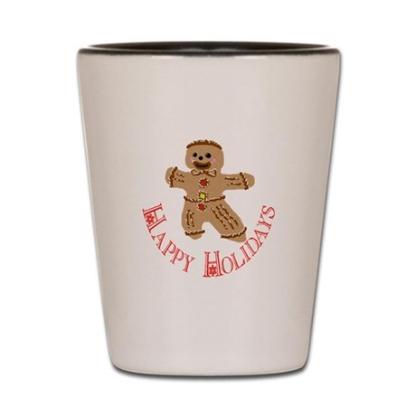 Gingerbread Man Shot Glass