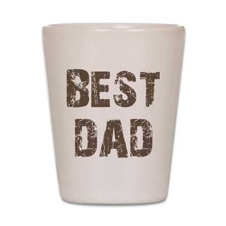 Best Dad Father's Day Brown Shot Glass