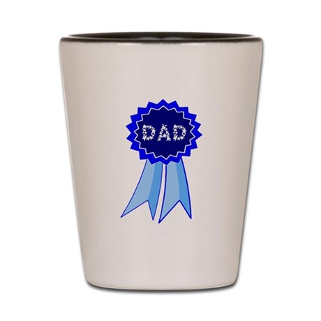 Dad's Blue Ribbon Shot Glass